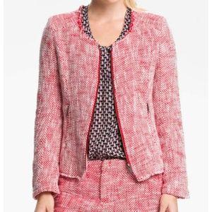 Joie Red Collis Tweed Jacket